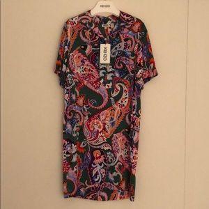 BRAND NEW Kenzo Paisley Polo Dress